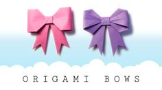 View of my origami bow tutorials, great for card making, gift wrapping and more! Advanced and Easy models here. #bow #origami #paper #craft #papercraft #cute #kawaii