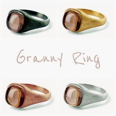 Beautiful new Granny ring, 63 eur, from Pernille Corydon - Buy yours here: http://www.a-hjort.com/shop/a-hjort-international/import/granny-ring/c-23/c-75/p-4555 FREE SHIPPING WORLDWIDE #ahjort #webshop #smykker #pernillecorydon