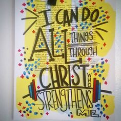 Bible Journaling by McKenzie @theletteredlight | Philippians 4:13