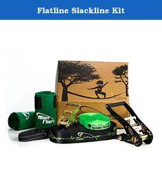 Beginner Slackline Kit Complete Slack Line Gift Set W 50Ft Main Blance T ORANGE
