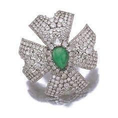 DAVID WEBB BROOCHES | Emerald and diamond brooch, David Webb, 1970s - Eloge de l'Art par ...