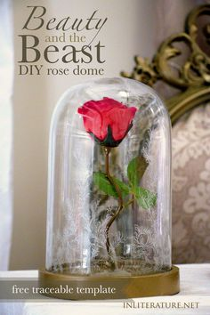 A Beauty and the Beast party wouldn't be complete without the iconic rose dome. With this template, replicate the rose under the dome from the 2017 live-action film. http://inliterature.net/create/diy/2017/03/beauty-and-the-beast-rose-dome-tutorial.html