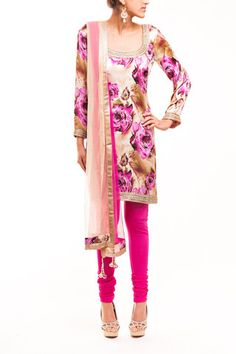 Rose Print Pajami Suit