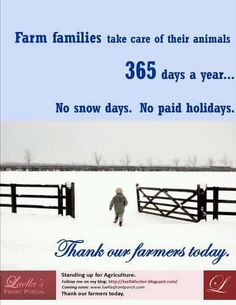 Yupp! Sunshine,snow and rain we still gotta get up early to take care of our animals!