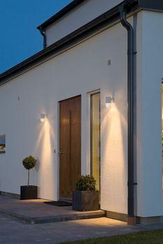 Home Exterior Decorating with Outdoor lighting Blitz Design, Front Door Lighting, Outdoor Party Lighting, Black Wall Lights, Exterior Wall Light, External Lighting, Wall Mounted Lamps, Residential Lighting, Black Walls