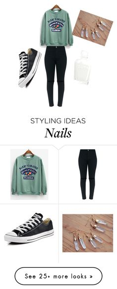 """""""Untitled #1308"""" by diamondsdokill on Polyvore featuring Converse"""
