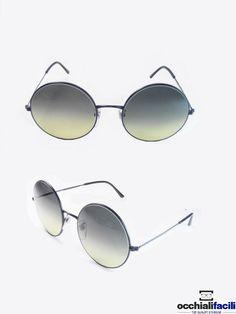 Occhiali da sole Etnik U.K .Mod.Tondo Col.C4 in metallo con terminali in celluloide, lenti sfumate e forma tonda. http://www.occhialifacili.com/prodotto/occhiali-da-sole-etnik-u-k-mod-tondo-56-col-c4/
