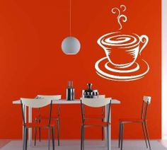 Coffee in the Morning Vinyl Wall Decal by circlelinestudio on Etsy, $34.00