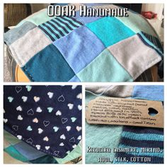 Handmade Baby COTTON CELLULAR BLANKET-,LILAC,BLUE,TURQUOISE SATIN