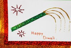 Diwali Ideas - Cards, Crafts, Decor, DIY for home Handmade Diwali Greeting Cards, Diwali Cards, Diwali Greetings, Diwali Diy, Happy Diwali, Handmade Cards, Diwali 2014, Diwali Wishes, Diwali Craft For Children