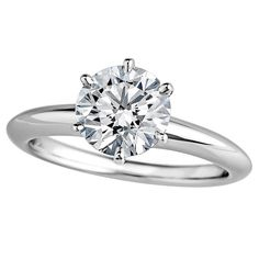 Tiffany & Co. 1.37 Carat Diamond Platinum Engagement Ring. H color VS1 clarity. $16,500.  Circa 2008. Size 6 and can be custom sized. Tiffany & Co. certification #22980955/106040301/matching serial number and Tiffany & Co. stamp inside ring. Original Tiffany & Co. purchase receipts included.