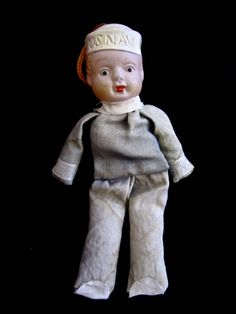 Vintage Sailor Doll (with celluloid head).  SOLD