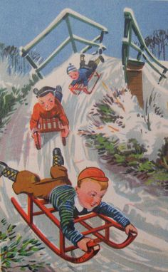 Vintage Christmas card - The Netherlands