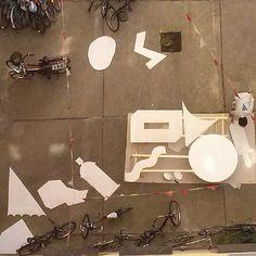 KLUB7 at work #klub7 #ottobaum #kidcash #diskorobot #2d3d #shapes #abstractshapes #berlin #birdperspective