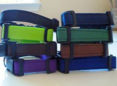 Solid Color Collars  Made to Order  Your Choice by katiesk9kollars, $10.00