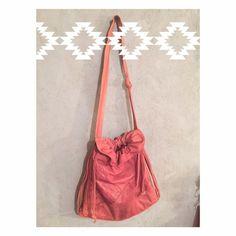 Rare vintage boho style drawstring Super soft real leather Vintage Bags