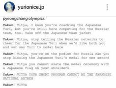 I can totally see him doing this! || Yuri on Ice
