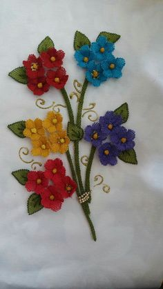 This Pin was discovered by Lal Quilling Craft, Point Lace, Needle Lace, Lace Making, Lace Flowers, Ribbon Embroidery, Flower Decorations, Needlepoint, Needlework