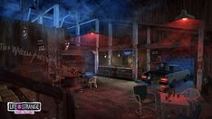 Life is Strange - Before the Storm concept art - The saw mill bar room- night version Character Concept, Concept Art, Alice Madness Returns, Life Is Strange, Room Posters, Book Art, Old Things, Night, Painting