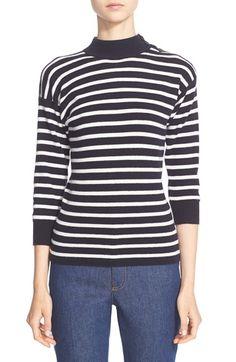 ALEXANDER MCQUEEN Stripe Knit Wool Sweater. #alexandermcqueen #cloth #