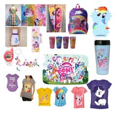 """My little pony"" by lovecats123 ❤ liked on Polyvore featuring My Little Pony and Hasbro"