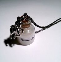 'unicorn blood' potion necklace by GothicLucia