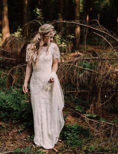 Love the plait. Venetia Dress by Jenny Packham