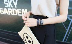 レザースタッズポイントジュエリー -  [Daily about:デイリーアバウト]韓国人気レディースファッション通販! お手ごろなオリジナルアイテムが盛りたくさん!!