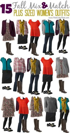 15 Fall Mix & Match Plus Size Fashion Outfits