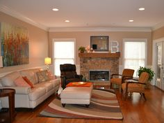 After: How to style a large family room