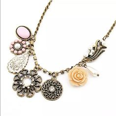 Necklace New fashion jewelry crystal chunky pendant statement bib chain choker necklace Jewelry Necklaces