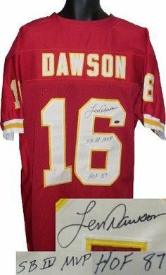 d4cda1ef4 Len Dawson Autographed Hand Signed Kansas City Chiefs Red Prostyle Jersey  SB IV MVP  amp