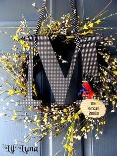 front door wreath - LOVE!! by agnes