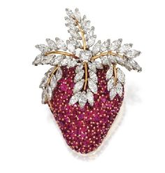 Diamond and Ruby Strawberry Brooch, Jean Schlumberger for Tiffany & Co.