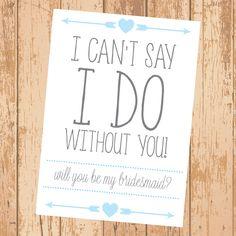 Tribal Will You Be My Bridesmaid Card Printable by SOSWeddings, $4.00