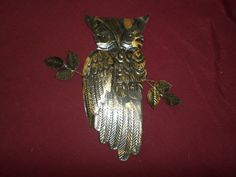 Vintage metal Owl Chippy metal Owl by rustyitems on Etsy