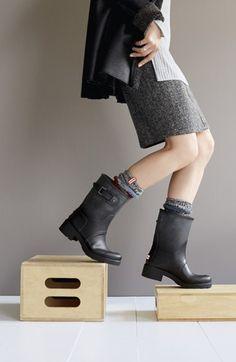 Hunter 'Original' Waterproof Ankle Rain Boot (Women) | Nordstrom