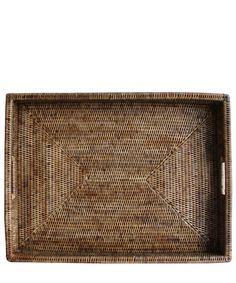Large Woven Rectangular Serving Tray, Antique Brown – High Street Market