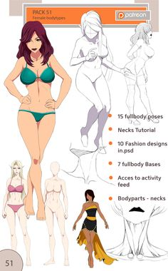 51 pack - female body types by Precia-T on DeviantArt Female Drawing, Body Drawing, Woman Drawing, Drawing Poses, Character Drawing, Figure Drawing Reference, Anatomy Reference, Poses References, Anime Poses