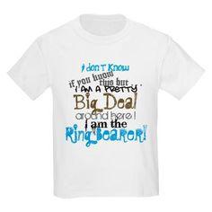 Ring Bearer shirt, too cute!