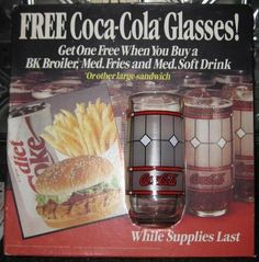 Coca Cola Glasses from Burger King!  We had these!  :-D