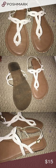 5a13262a9e91 Shop Women s target White size 8 Sandals at a discounted price at Poshmark.  White SandalsShoes SandalsFlip FlopsTargetSandalFlip ...