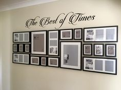 The best of time - Einrichtungsideen mit Kindern - Pictures on Wall ideas Gallery Wall Layout, Gallery Wall Frames, Frames On Wall, Photo Wall Decor, Family Wall Decor, Photowall Ideas, Family Pictures On Wall, Photo Deco, Hallway Decorating