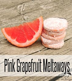 Grapefruit flavored meltaway cookies have me dreaming of summer! Citrus and summer are a perfect pair so make up some of these grapefruit cookies for your next picnic. I've made lime meltaways before, but when I Pink Grapefruit, Grapefruit Ideas, Grapefruit Recipes Dessert, Cookie Desserts, Just Desserts, Cookie Recipes, Dessert Recipes, Recipes, Cookies