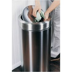 simplehuman Swing Top Trash Can