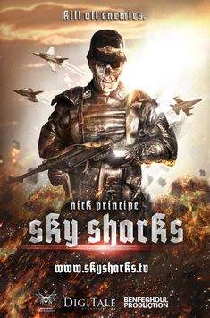 Sky Sharks is a 2017 German comedy adventure horror film directed by Marc Fehse (Mutation; Spores) from a screenplay by A.D. Morel. It stars Robert LaSardo, Cary-Hiroyuki Tagawa, Nick Principe, Lar Park-Lincoln, Michaela Schaffrath, Lynn Lowry (I Drink Your Blood; Shivers; Cat People), Micaela Schäfer, Ralf Richter, Tobias Schenke, Nick Dong-Sik, Charles Rettinghaus. http://horrorpedia.com/2015/01/23/sky-sharks/