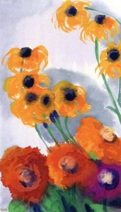 """adreciclarte: """"Emil Nolde - Poppies and Sun Hats """"Emile Nolde (German~Danish 1867~1956)   He was one of the first Expressionists, a member of Die Brücke.Artist Emile NoldeFosterginger.Pinterest.ComMore Pins Like This One At FOSTERGINGER @ PINTEREST No Pin Limitsでこのようなピンがいっぱいになるピンの限界He was one of the first Expressionists, a member of Die Brücke, and is considered to be one of the great oil painting and watercolour painters of the 20th century."""