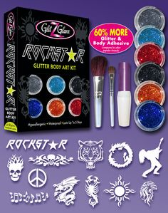 Learn how you can create your own professional glitter tattoo with rockstar glitter tattoo kit is a do it yourself product that includes everything you need to solutioingenieria Gallery