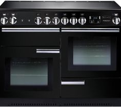 Buy Rangemaster Professional Plus Electric Range Cooker with Induction Hob - Black from Appliances Direct - the UK's leading online appliance specialist Induction Range Cooker, Electric Range Cookers, Dual Fuel Range Cookers, Gas Cookers, Electric Oven, Black Range Cooker, Casserole En Fonte, Houses, Home