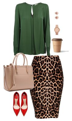 """Non-Boring Work Outfit 15"" by onyxbertha ❤ liked on Polyvore featuring MICHAEL Michael Kors, Bloomingdale's, FOSSIL and Monica Vinader"